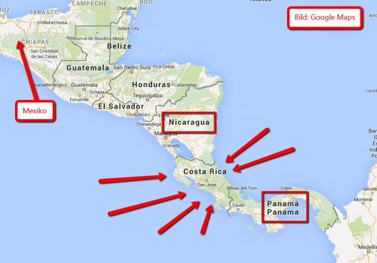 Wo ist Costa Rica?