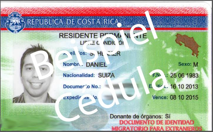 Cédula Costa Rica
