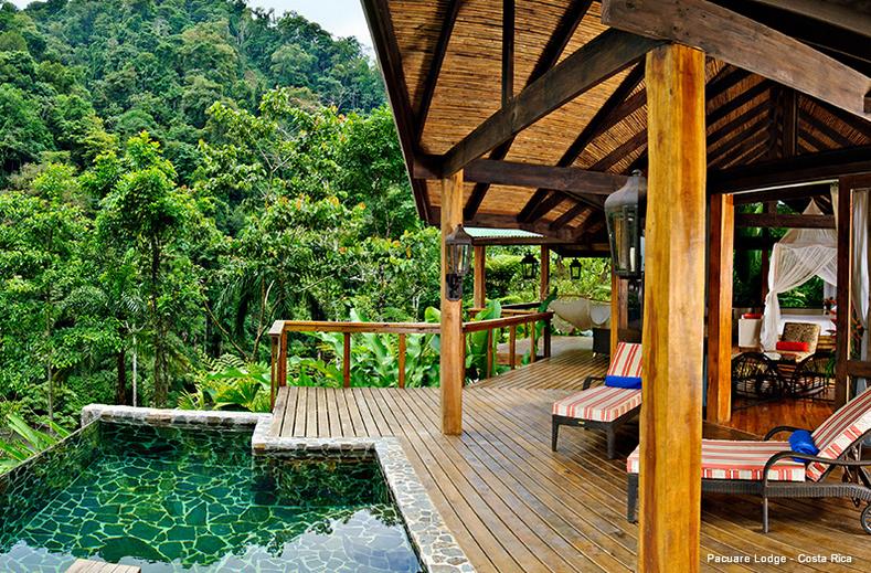 Privater Pool mit Terrasse vor dem Zimmer   Foto: Pacuare Lodge