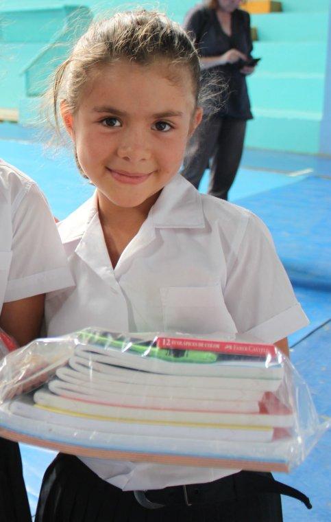 Schulmaterial für Schüler in Costa Rica