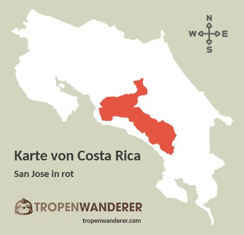 Karte Provinz San Jose, Costa Rica