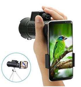 Monokular mit Stativ und Smartphone-Adapter, Reisen