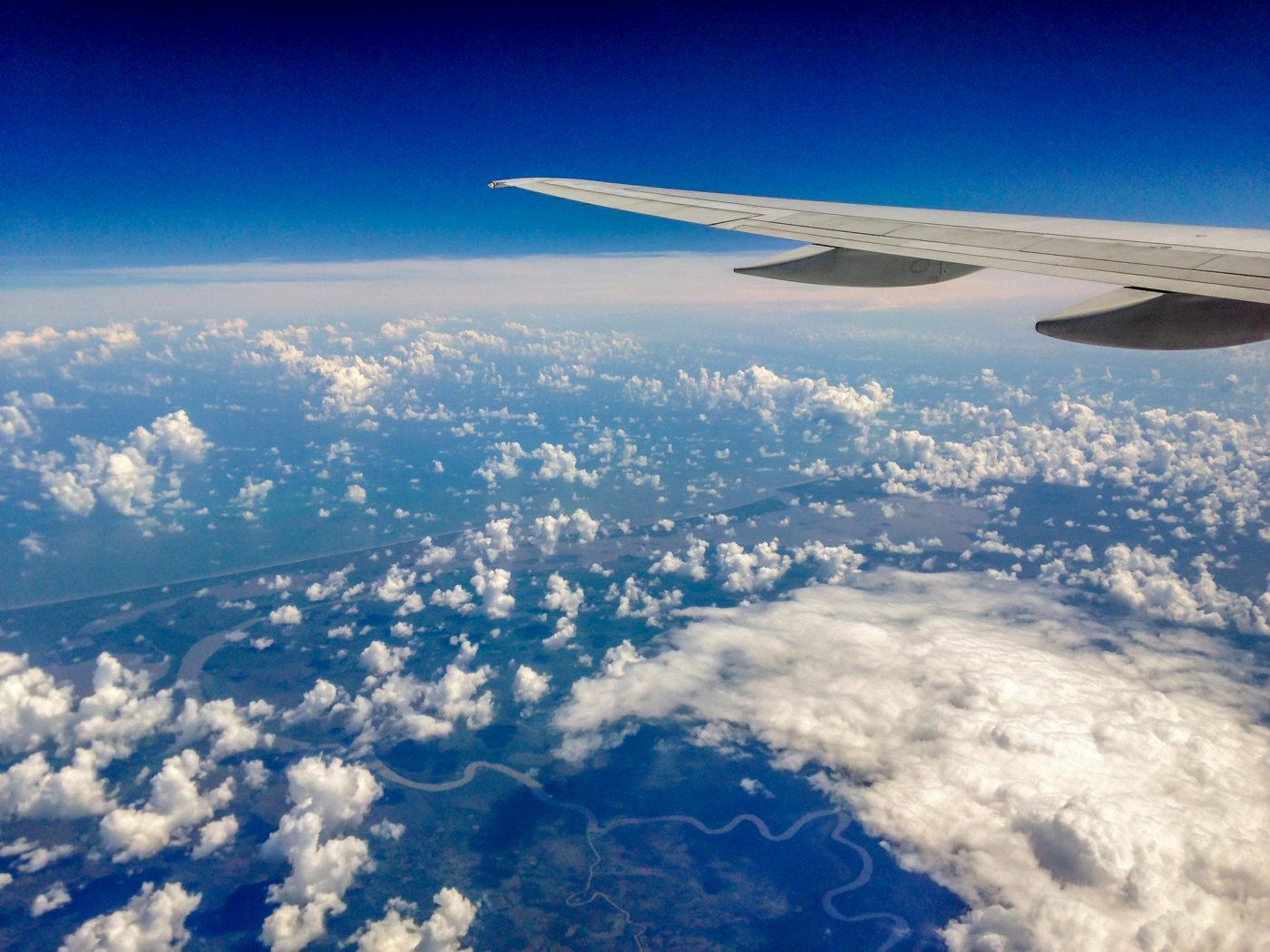 Costa Rica von oben, aus dem Flugzeug