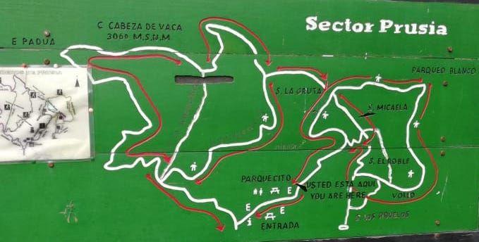 Karte beim Eingang des Sector Prusia Park